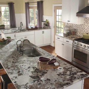 Alaska White Granite Kitchen Island
