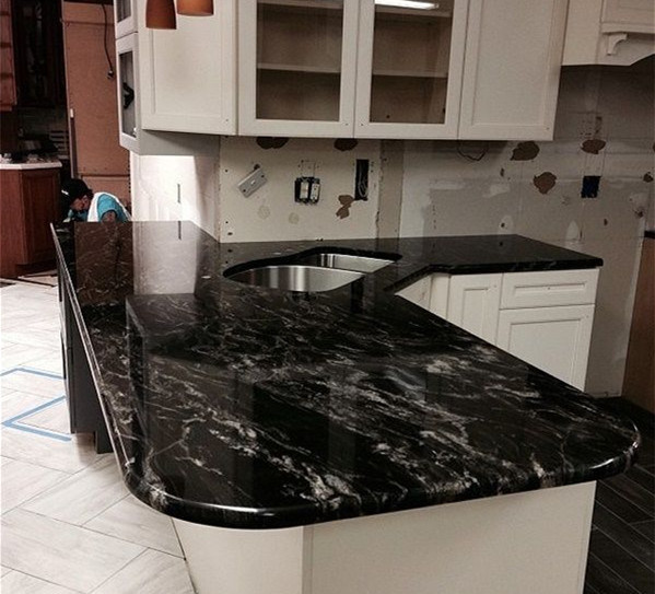 High Quality Forest Black Granite Countertop for Kitchen Bathroom