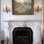 10. Marble fireplace in living room