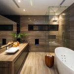 marble bathroom glass shower contemporary home in garza garcia meico